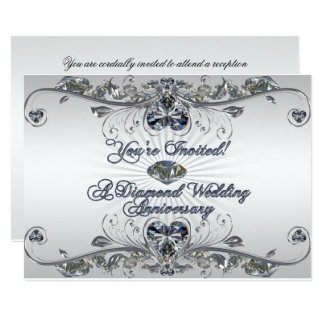Diamond Wedding Anniversary Invitation Card