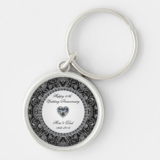 Diamond Wedding Anniversary Key Chain