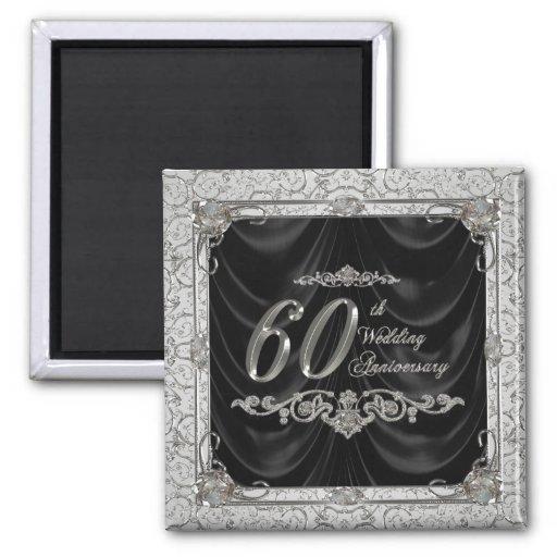 Diamond Wedding Anniversary Magnet Fridge Magnets