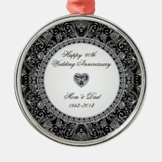 Diamond Wedding Anniversary Ornament