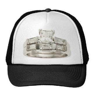 Diamond Wedding Engagement Ring Hint Hint Trucker Hat