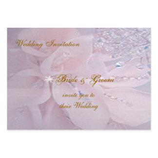 Diamond Wedding Invitation Pack Of Chubby Business Cards