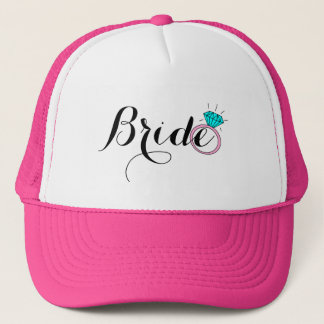 Diamond Wedding Ring Bride Trucker Hat