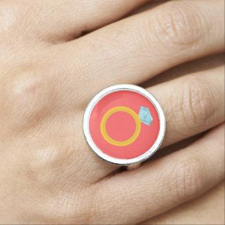 Diamond Wedding Ring Vector Graphic