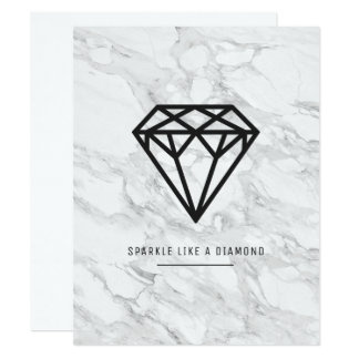 Diamond with Marble Card