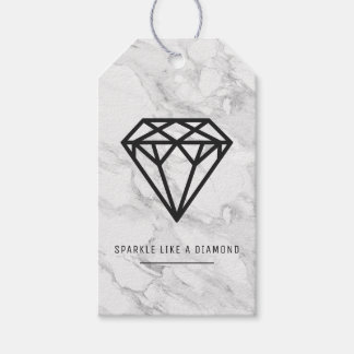 Diamond with Marble Gift Tags