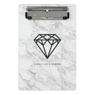 Diamond with Marble Mini Clipboard