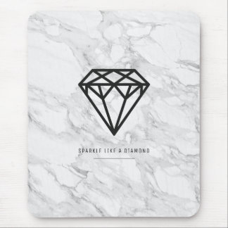 Diamond with Marble Mouse Pad