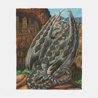 Diamondback Dragon Fleece Blanket