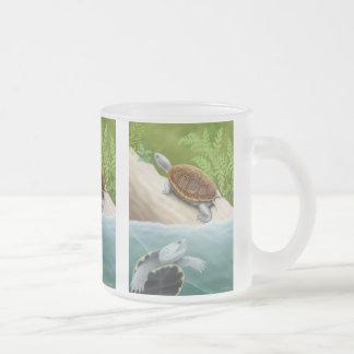 Diamondback Terrapins Frosted Glass Mug