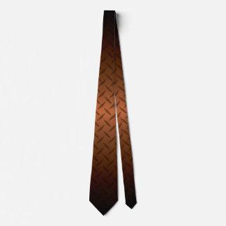 Diamondplate Pattern With Black to Copper Fade Tie