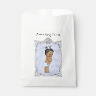 Diamonds African American Prince Baby Boy Blue Favour Bag
