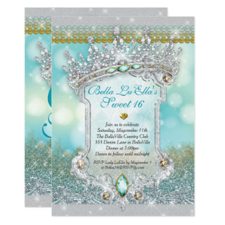 Diamonds and Bling Sweet 16 Quince Invitations