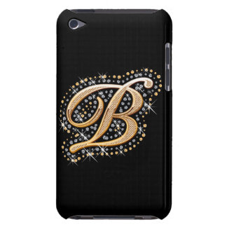 Diamonds and Golden Initial ''B'' iPod Touch Case