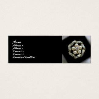 Diamonds and Pearls Mini Business Card