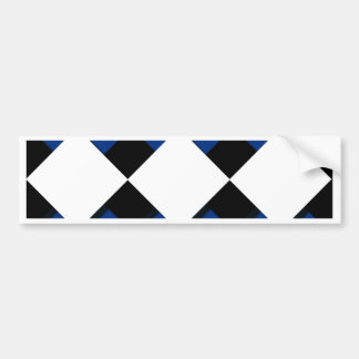Diamonds and Shadows in Blue, Black, and White Bumper Sticker