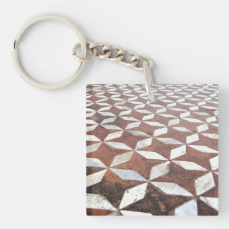 Diamonds and Stars Double-Sided Square Acrylic Keychain