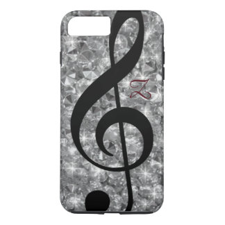 diamonds and treble clef iPhone 7 plus case