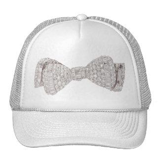Diamonds and White Gold Bow Tie Cap