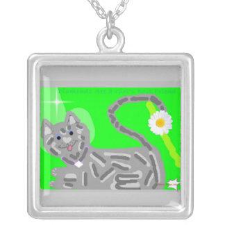 Diamonds are a Girl's Best Friend April birthday k Custom Necklace