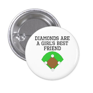 Diamonds Are A Girl's Best Friend Buttons