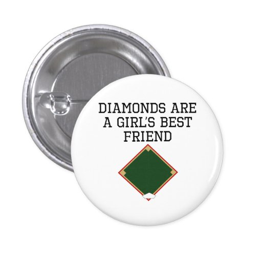 Diamonds Are A Girl's Best Friend Pinback Buttons
