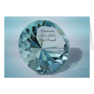 diamonds are a girls best friend greeting card