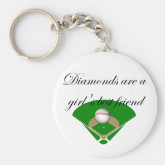 Diamonds are a girl's best friend T-shirts Basic Round Button Key Ring