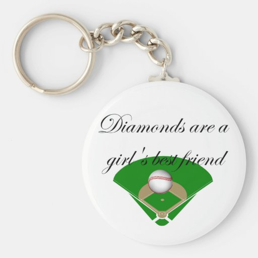 Diamonds are a girl's best friend T-shirts Key Chains