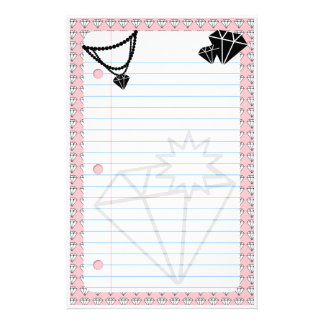 diamonds are forever personalized stationery