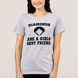 Diamonds Baseball Field Are Girls Best Friend T-Shirt