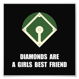 Diamonds Baseball Photo Print