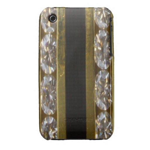 Diamonds, Black Coral and Gold Blackberry Curve Ca iPhone 3 Case-Mate Case