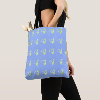 Diamond's_Cats_Lime-Cornflower-Blue-Totes-Bag's(c) Tote Bag