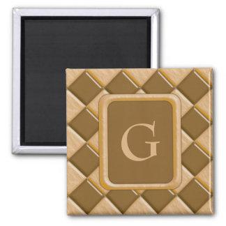 Diamonds - Chocolate Peanut Butter Square Magnet