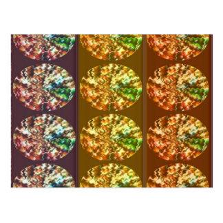 Diamonds Decoration Energy Pattern Postcard
