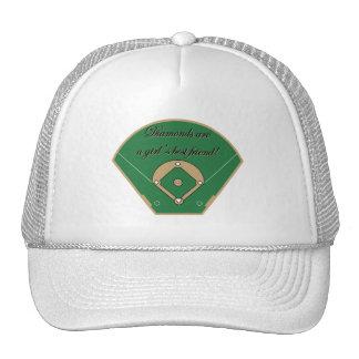 Diamonds Girl's best friend Trucker Hat