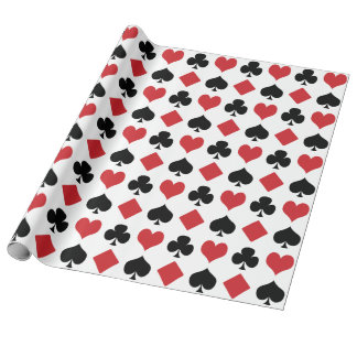Diamonds, Hearts, Clubs, Spades Wrapping Paper