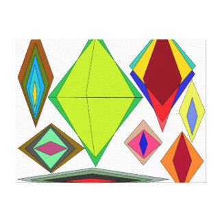 Diamonds of illusion canvas print