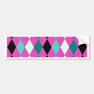 Diamonds on Pink Bumper Sticker