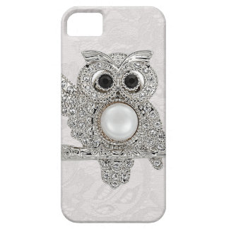 Diamonds Owl & Paisley Lace printed IMAGE iPhone 5 Cover