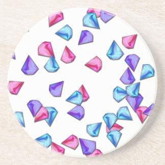 Diamonds pattern coaster