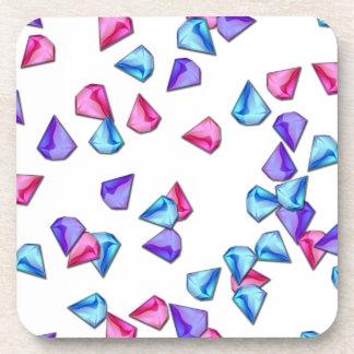 Diamonds pattern coasters