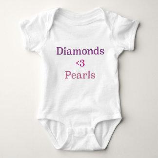 Diamonds & Pearls Baby Bodysuit