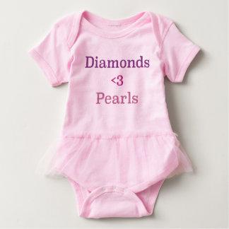 Diamonds & Pearls Tutu Baby Bodysuit