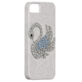 Diamonds Printed Swan & Paisley Lace iPhone 5 Covers