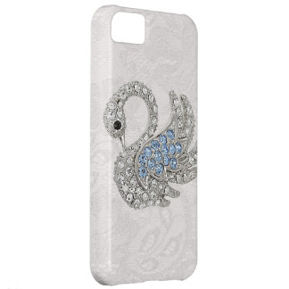 Diamonds Printed Swan & Paisley Lace iPhone 5C Case