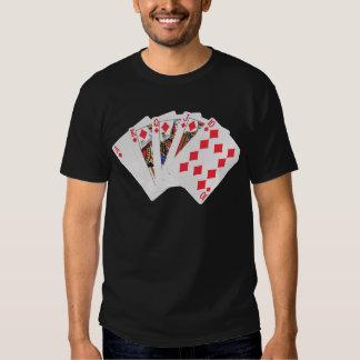 Diamonds Royal Flush Poker Shirt