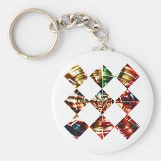 Diamonds Sparkle V1  - Red Cosmic Energy Keychain