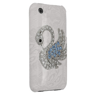 Diamonds Swan & Paisley Lace iPhone 3G Case iPhone 3 Case